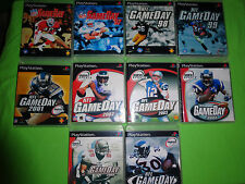 Empty Custom Cases!  NFL GameDay Collection 96-05 Sony PlayStation 1 PS1 PS2 PS3