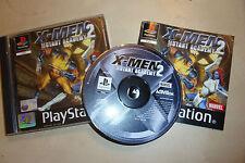 Sony PS1 Playstation 1 PSONE juego X-men Mutant Academy 2/II + Caja Instrucciones