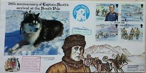 BRITISH ANTARCTIC CAPTAIN SCOTT ANNIV CONCORDE FLIGHT TO ARCTIC HUSKY DOG COVER