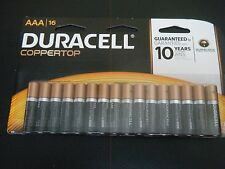 Duracell CopperTop AAA Alkaline Batteries 16 ct, Guaranteed 10 years in storage