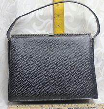 Vintage 1950's Andrew Geller Leather Handbag Evening Bag is Black/Gray