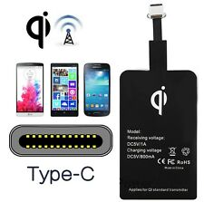 RICEVITORE PLACCA WIRELESS CHARGING RECEIVER 800mA UNIVERSALE TYPE-C TIPO C