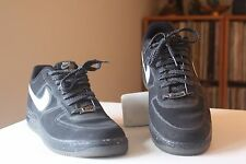 Nike 555027-010 Lunar Force 1 Fuse Black Leather Basketball Shoes Men's Size 10