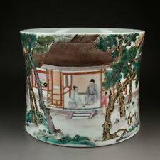 Antique Chinese Collection Colorful Porcelain Brush Pot