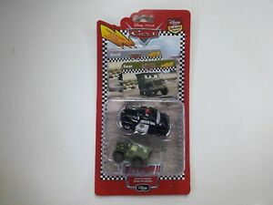 Disney Pixar Cars Disney Store Sarge & Sheriff Trading Cards Mini Diecasts