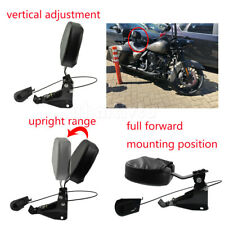 Detachable Adjustable Rider Driver Backrest Pad Mounting Kit PU Fit For Touring