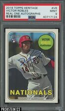 2018 Topps Heritage Real One Victor Robles RC Rookie Signed AUTO PSA 9 MINT
