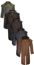 Walker & Hawkes Unisex Waxed Cape Stockman Jacket  100% Cotton Coat Waterproof