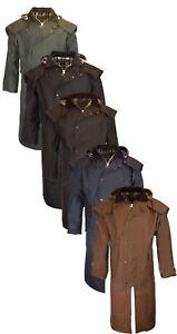 Walker & Hawkes Unisex Waxed Cape Stockman Jacket  100% Cotton Coat Waterproof