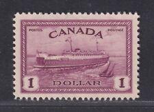 Canada Scott 273 VF MNH 1946 $1 Train Ferry World War II Peace Issue SCV $42.50