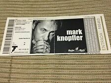 MARK KNOPFLER SPANISH CONCERT TICKET UNUSED 2003 BADALONA - DIRE STRAITS