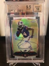 "2014 Topps Chrome SAMMY WATKINS Black Refractor RC ""On Card"" Auto #/25 BGS 9.5"