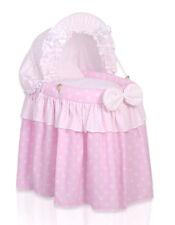 My Sweet Baby-doll in vimini culla in vimini-Polka Rosa
