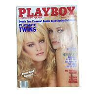 PLAYBOY Magazine Vintage Centerfold September 1989 Playmate Twins Gatefold