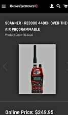 Racing Electronics RE3000 440CH OVER-THE-AIR PROGRAMMABLE Scanner