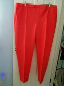 Isaac Mizrahi Live! Womens 24/7 Stretch Ankle Pants w/ Pintuck 22W Coral A289789