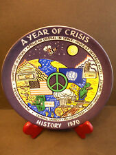 LIMITED EDITION COLLECTORS PLATE 1970 A YEAR OF CRISIS HISTORICAL EVENT SERIES