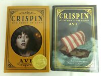 Crispin At the Edge of the World & The Cross of Lead HC Book Lot of 2 by Avi