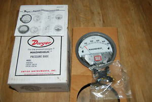 Dwey 2000-500PA - Magnehelic Differential Pressure Gauge, 0-500Pa