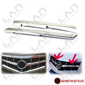 For Cadillac SRX 2010 2011 2012 2013 Chrome Front Grille Trim Cover 2PC Kit Set