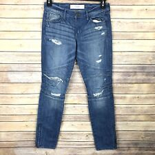 Abercrombie Fitch Ankle Jeans 4 Women Distressed Skinny Stretch Ankle Zip Rare
