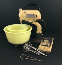 Antique Hamilton Beach Model C Mixer With Yellow Bowls Beater and Whip