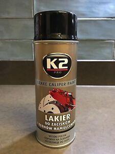 K2 BRAKE CALIPER PAINT BLACK HIGH GLOSS 260°C Resistant Spray Lacquer - 400 mL