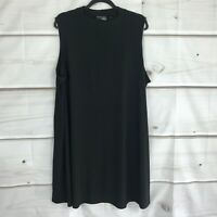 Attitudes by Renee Womens Petite 3X Como Jersey Sleeveless Mock Neck Dress Black