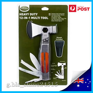 12-in-1 Stainless Steel Multi Tool Survival Camping Hiking Screwdriver Opener Ax