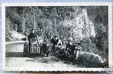 photo ancienne . moto ancienne . side-car