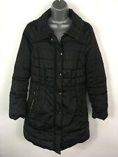 WOMENS PRINCIPLES BEN DE LISI BLACK PADDED FITTED WARM WINTER PUFFER COAT UK 12