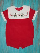 VTG NWOT Toddle Tykes Embroidered Christmas Bubble Romper Size 18 Months