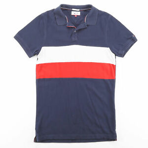 TOMMY HILFIGER Blue 00s Short Sleeve Polo Shirt M