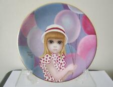 Margaret Keane The Balloon Girl Collectible Plate Vintage 1975 Flawless