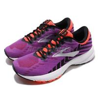 Brooks Launch 6 Purple Black Coral White Women Running Shoes Sneakers 120285 1B