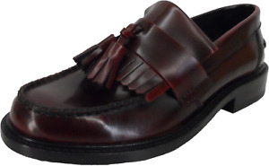 Ikon Original Ladies Selecta Oxblood Retro All Leather Tassel Loafers