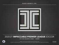 2020-21 PANINI IMPECCABLE EPL SOCCER **FACTORY SEALED CASE - 3 HOBBY BOXES**