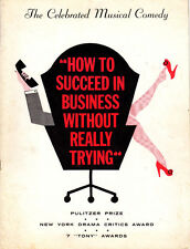 HOW TO SUCCEED IN BUSINESS Program-THREE AUTOGRAPHS-HAL ENGLAND/HAMILTON/O'NEILL