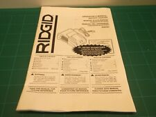 R86092 RIDGID 18V Battery Charger Operator's Manual - ONLY