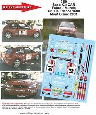 Decals 1/24 ref 389 citroen saxo s1600 Fabre rallye du mont blanc 2001