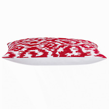 """Red and White Rectangle Cushion Cover  30 x 50 cm 12x20"""""""