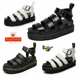 Dr Martens BLAIRE ladies HYDRO leather gladiator sandals soft top layer real cow
