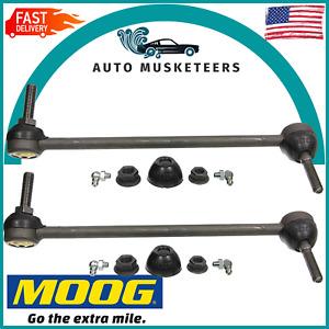 For Ford Flex Lincoln MKS 2009 Set Of 2 Front Stabilizer Bar Links Pair Moog
