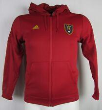 Real Salt Lake MLS Men's Adidas Climawarm Full Zip Hooded Jacket
