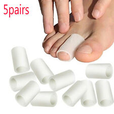 10pcs Silicone Toe Gel Protector Sleeve Tubes Ingrown Toenail Corn Cushion Cap