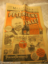 PETERSEN'S FURNITURE CO CHICAGO SALE NEWSPAPER FLYER 1935 ADVERTISING