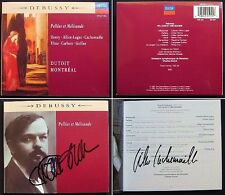 DUTOIT CACHEMAILLE Signed DEBUSSY Pelleas et Melisande 2CD Alliot-Lugaz D. Henry