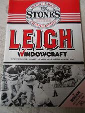 7.9.86 Leigh v Wigan programme