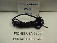 Pioneer Sa-5800 Original Line Cord. Tested Parting out Sa-5800 Amplifier.