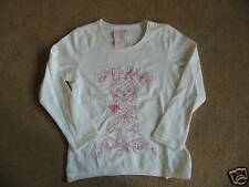 BNWT NEXT White Embroidered Cool Babe Long Sleeve Top 4 Years 104cms